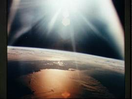 Morning in Orbit, Apollo 7, JSC Digital Image Collection