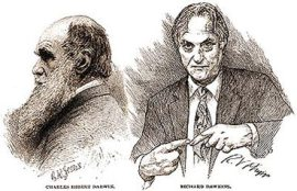 Darwin, grumpy, and Dawkins...knitting?