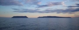 The Diomede Islands of the Bering Sea
