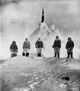 Peary Team Claims Attainment of the (very solid looking) North Pole