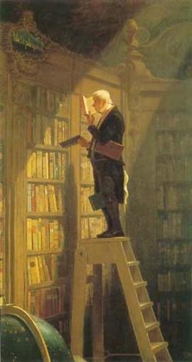 """""""Der Bücherworm"""" by Carl Spitzweg, 1850"""