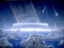 Artist Rendition of the K-T Extinction Event