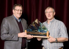 Maurice Isserman receives Banff Award from Mike Mortimer