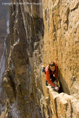 Steph Davis free soloing The Diamond, Longs Peak, Colorado