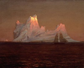Scene of icebergs, Frederic Church