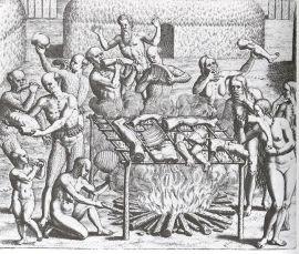 Cannibals in Brazil, Hans Staden, 1557