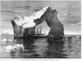 Gigantic Iceberg Seen By the Arctic Ships, From a Sketch by an Officer of the Valorous, Illustrated London News, 1875