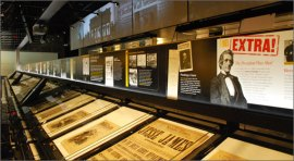 News History Gallery, Newseum, Washington DC.