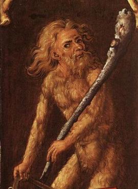 Woodwose (detail), Albrecht Durer, 1499