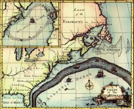 Franklin Map of Gulf Stream, 1769