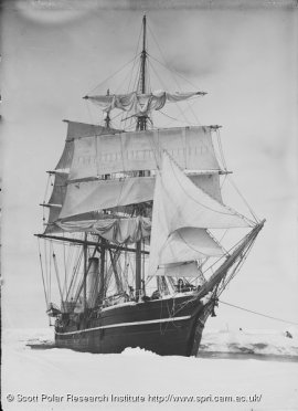 Terra Nova, British Antarctic Expedition, 1910. Courtesy of Freeze Frame.