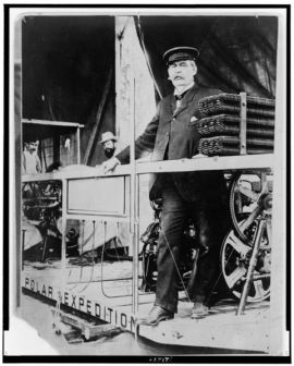 Walter Wellman aboard America