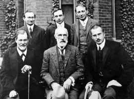 Carl Jung (lower right) and Sigmund Freud (lower left), 1908