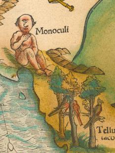 Sebastian Munster's 1554 Map of Africa (detail)