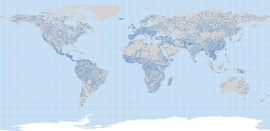 world map navigable rivers