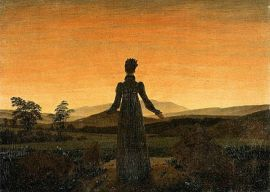 Woman Before the Rising Sun, Caspar David Friedrich, 1820.