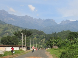 Kilembe, Western Uganda. Gateway to the Rwenzoris.