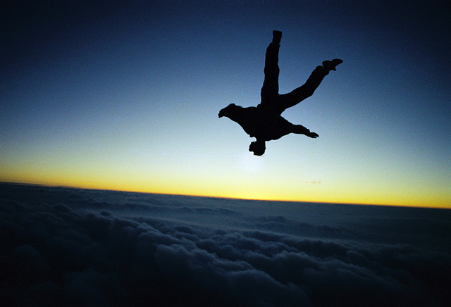 """Skydive Sunset Blue"" (2005) Photo Credit: Rick Neves"